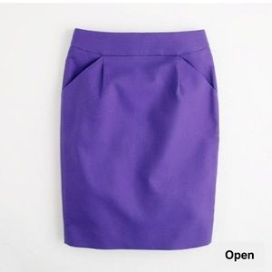 J. Crew pencil skirt vibrant purple
